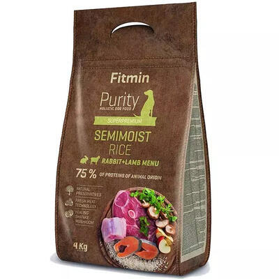 Fitmin dog Purity Rice Semimoist Rabbit&Lamb 4 kg - 1