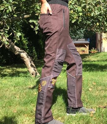 Kalhoty softshell NERO COLOR hnědé - 1