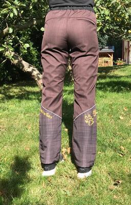 Kalhoty softshell NERO COLOR hnědé - 2