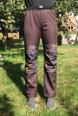 Kalhoty softshell NERO COLOR hnědé - 3